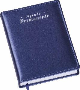 Agenda Compacta Metalizada Azul