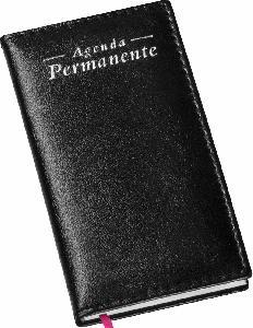 Agenda Permanente de Bolso Capa Lisa Preta