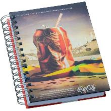 Agenda Wire-o Personalizada na Capa e Contra Capa com Imagem Fotográfica